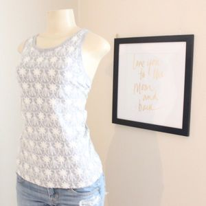 J Crew Embroidered Floral Design Muscle Tank⭐️